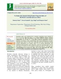 To study the osmotic dehydration characteristics of Kiwifruit (Actinidia delicosa) slices