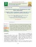 Studies on physico-chemical parameters of Kanigiri reservoir, Nellore district, Andhra Pradesh