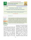 Nanotechnology in agriculture - A review
