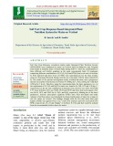 Soil test crop response based integrated plant nutrition system for maize on Vertisol