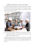 Phương pháp quản lý dự án xây dựng