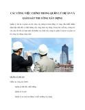 Các công việc chính trong quản lý dự án và giám sát thi công xây dựng