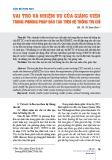 Vai trò và nhiệm vụ của giảng viên trong phương pháp đào tạo theo hệ thống tín chỉ