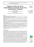 Impacts of the sectoral composition of growth on poverty reduction in Vietnam