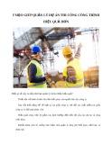 5 mẹo giúp quản lý dự án thi công công trình hiệu quả hơn