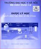 Đào tạo bác sĩ đa khoa về dược lý học: Phần 1