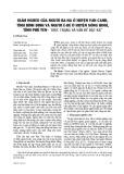 Giảm nghèo của người Ba-na ở huyện Vân Canh, tỉnh Bình Định và người Ê-đê ở huyện Sông Hinh, tỉnh Phú Yên - Thực trạng và vấn đề đặt ra