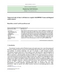 Numerical study of shear wall behavior coupled with HPFRCC beam and diagonal reinforcements