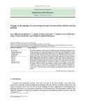 Changes in the topology of a concrete porous space in interactions with the external medium