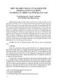 Điều tra hiện trạng cây ba kích tím (Morinda oficinalis How) có trong tự nhiên tại tỉnh Quảng Nam