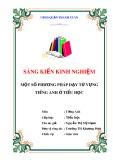 SKKN: Một số phương pháp dạy từ vựng tiếng Anh ở tiểu học