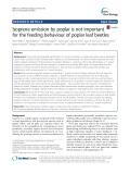 Isoprene emission by poplar is not important for the feeding behaviour of poplar leaf beetle