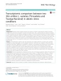 Transcriptomic comparison between two Vitis vinifera L. varieties (Trincadeira and Touriga Nacional) in abiotic stress conditions