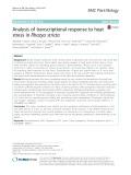 Analysis of transcriptional response to heat stress in Rhazya stricta