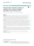 Genome-wide association analysis of seedling traits in diverse Sorghum germplasm under thermal stress