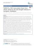 TaNAC29, a NAC transcription factor from wheat, enhances salt and drought tolerance in transgenic Arabidopsis