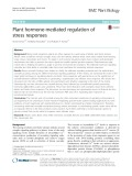 Plant hormone-mediated regulation of stress responses