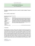 The influence of individual characteristics in transfer of technical training in Vietnamese enterprises