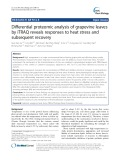 Differential proteomic analysis of grapevine leaves by iTRAQ reveals responses to heat stress and subsequent recovery
