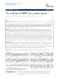 The evolution of WRKY transcription factors