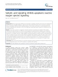 Salicylic acid signaling inhibits apoplastic reactive oxygen species signaling