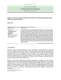 Impact of a reactive capacity production on the firm's operational management under carbon cap and trade system
