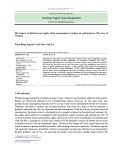 The impact of global green supply chain management practices on performance: The case of Vietnam