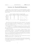 Lecture Design and Analysis of Algorithms - Lecture 14B: Baseball Elimination