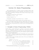 Lecture Design and Analysis of Algorithms - Lecture 15: Linear Programming