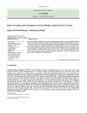Impact of working capital management on firm profitability: Empirical study in Vietnam