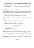 Đề thi HSG môn Toán lớp 12 năm 2019-2020 - Sở GD&ĐT Phú Yên