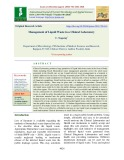 Management of liquid waste in a clinical laboratory