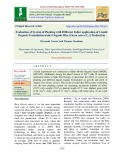 Evaluation of system of planting with different foliar application of liquid organic formulation under organic rice [Oryza sativa (L.)] production