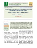 Evaluation of different establishment methods for enhancing productivity and profitability of rice under puddle condition