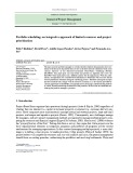 Portfolio scheduling: an integrative approach of limited resources and project prioritization