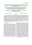 Kết quả điều tra thành phần sâu, bệnh hại và thiên địch trên một số cây trồng chính và sản phẩm sau thu hoạch ở Việt Nam giai đoạn 2012-2017