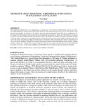 Decorative arts in traditional turkish house in the context of space design: An evaluation