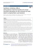 Synthesis, inhibition effects and quantum chemical studies of a novel coumarin derivative on the corrosion of mild steel in a hydrochloric acid solution