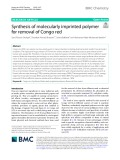 Synthesis of molecularly imprinted polymer for removal of Congo red