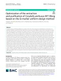 Optimization of the extraction and purification of Corydalis yanhusuo W.T. Wang based on the Q-marker uniform design method