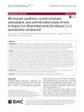 Microwave synthesis, crystal structure, antioxidant, and antimicrobial study of new 6-heptyl-5,6-dihydrobenzo[4,5]imidazo[1,2-c] quinazoline compound