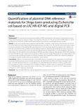 Quantification of plasmid DNA reference materials for Shiga toxin-producing Escherichia coli based on UV, HR-ICP-MS and digital PCR