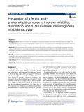 Preparation of a ferulic acid– phospholipid complex to improve solubility, dissolution, and B16F10 cellular melanogenesis inhibition activity