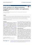 Facile synthesis of α-alkoxymethyltrip henylphosphonium iodides: New application of PPh3/I2