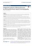 Fingerprint analysis of Resina Draconis by ultra-performance liquid chromatography