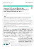 Potentiometric sensor for iron (III) quantitative determination: Experimental and computational approaches