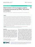 Determination of immunogenic proteins in biopharmaceuticals by UHPLC–MS amino acid analysis