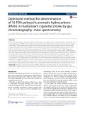 Optimized method for determination of 16 FDA polycyclic aromatic hydrocarbons (PAHs) in mainstream cigarette smoke by gas chromatography–mass spectrometry