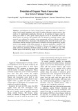 Potentials of organic waste conversion in a green campus concept