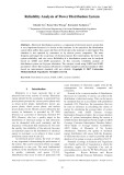 Reliability analysis of power distribution system